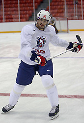 Jurij Golicic at morning practice of Slovenian national team before match against Canada at Hockey IIHF WC 2008 in Halifax,  on May 02, 2008 in Metro Center, Halifax, Canada.  (Photo by Vid Ponikvar / Sportal Images)