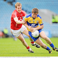 22 May 2011; Sean Collins, Clare, in action against Richard O'Sullivan, Cork. Munster GAA Football Junior Championship Quarter-Final, Cork v Clare, Pairc Ui Chaoimh, Cork. Picture credit: Pat Murphy / SPORTSFILE