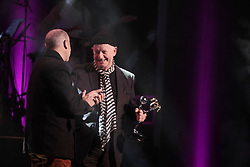 08/09/2018<br />Comedian Pieter-Dirk Uys receives Life time achiever Recipient of the year award at the 2018 Savanna Comics Choice Awards, Lyric Theatre Goldreef City, Johannesburg.<br /> Picture: Nhlanhla Phillips/African News Agency/ANA