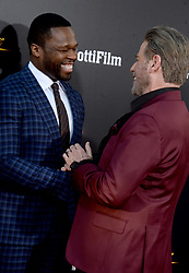 Rapper 50 Cent, John Travolta attending the New York Premiere of 'Gotti' at SVA Theater on June 14, 2018 in New York City, NY, USA. Photo by Dennis Van Tine/ABACAPRESS.COM