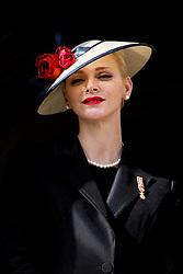 Fürstin Charlene bei den Feierlichkeiten zum Nationalfeiertag in Monaco / 191116<br /> <br /> ***National Day in Monaco, November 19th, 2016***