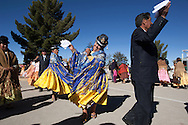 """Chucuito is on Collasuyo forty minutes by road from Puno going towards the border of Desaguadero, traversed longitudinally by Collasuyo ignored by tourism it's home to a feast of the Ascension (15 August) by the pre-Inca traits, as in all the festivities of the Aymara women dance twirling the """"pollera"""" while men waving a white handkerchief."""