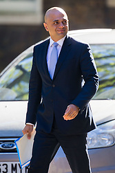 Home Secretary Sajid Javid arrives at 10 Downing Street to attend the weekly cabinet meeting.