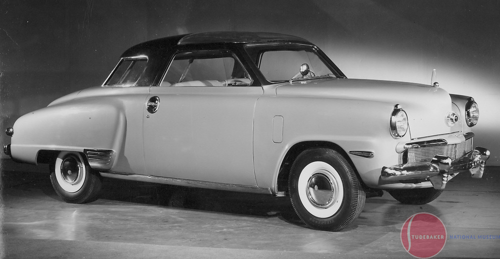 """Factory customized 1947 Studebaker Champion """"Starlight Coupe""""(The Starlight Coupe name would not be introduced until 1947, but is frequently applied retroactively.)  This car features a clear 'sun roof' and many other custom touches."""