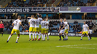 Football - 2018 / 2019 FA Cup - Third Round: Millwall vs. Hull City<br /> <br /> The Hull City wall is beaten by the free kick from Shane Ferguson (Millwall FC) at The Den.<br /> <br /> COLORSPORT/DANIEL BEARHAM