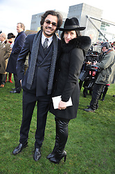 AMY MOLYNEAUX and LAURENT BENHAMOU at the 2012 Hennessy Gold Cup at Newbury Racecourse, Berkshire on 1st December 2012