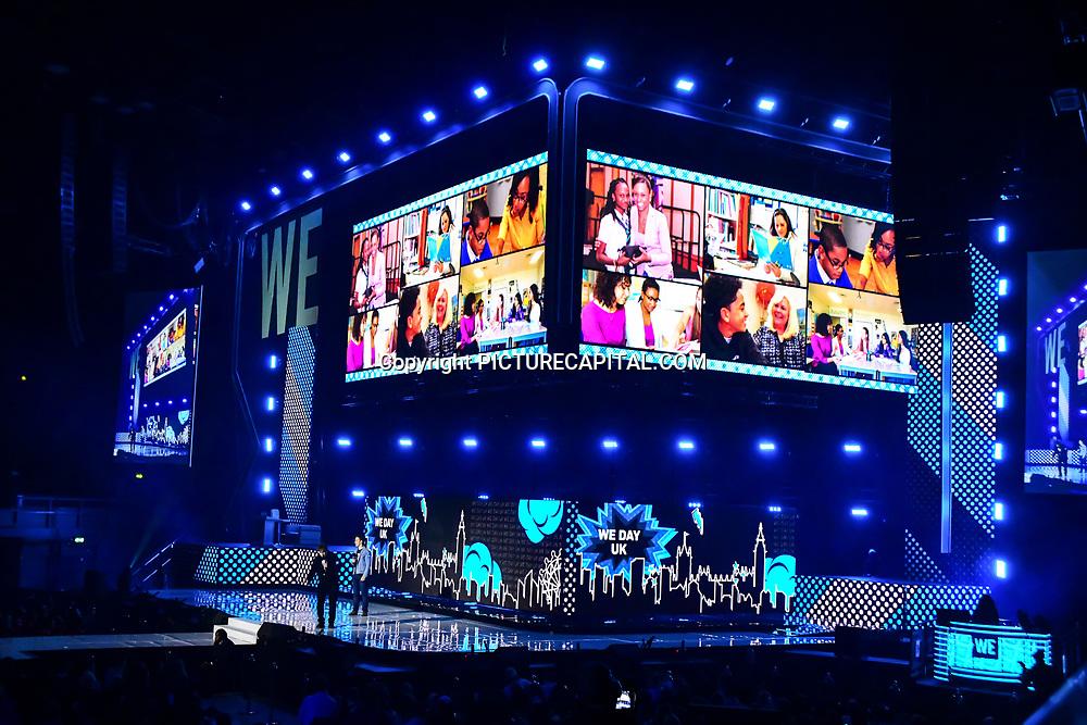 Speaks Marc Keilburger, Craig Keilburger 2020 WE Day UK at Wembley Arena, London, Uk 4 March 2020.