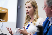 WKOW-TV reporter Emilee Fannon speaks during the Cap Times Idea Fest 2018 at the Pyle Center in Madison, Wisconsin, Saturday, Sept. 29, 2018.