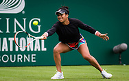 Heather Watson of Great Britain in action against Iga Swiatek of Poland during the first round at the 2021 Viking International WTA 500 tennis tournament on June 22, 2021 at Devonshire Park Tennis in Eastbourne, England - Photo Rob Prange / Spain ProSportsImages / DPPI / ProSportsImages / DPPI