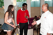 ELIZA DOOLITTLE; GEORGE ROBERTS-BARCOMBE;  NOBU MATSUHISA; , The Tomodachi ( Friends) Charity Dinner hosted by Chef Nobu Matsuhisa in aid of the Japanese Tsunami Appeal. Nobu Park Lane. London. 4 May 2011. <br /> <br />  , -DO NOT ARCHIVE-© Copyright Photograph by Dafydd Jones. 248 Clapham Rd. London SW9 0PZ. Tel 0207 820 0771. www.dafjones.com.