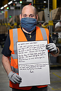 Worked at Amazon for 19 mths. From Standish near Wigan. Recently Gary lost his mother to Corona virus. Gary is deaf  and doesn't lip read well, there is only one other person at the Amazon site who he can talk through sign language  with.
