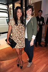 Left to right, LOHRALEE ASTOR and Cecilia Maresca at a party to celebrate the B.zero 1 design by Anish Kapoor held at Bulgari, 168 New Bond Street, London n 2nd June 2010.