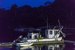 Rock Weed Boat Muscongus Harbor At 5am