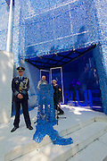 """Venice, Italy - 15th Architecture Biennale 2016, """"Reporting from the Front"""".<br /> Giardini.<br /> Opening Ceremony of Netherlands Pavilion.<br /> BLUE: Architecture of U.N. Peacekeeping Missions."""