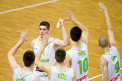 Ziga Dimec of Slovenia during basketball match between National teams of Slovenia and Lithuania in Preliminary Round of U20 Men European Championship Slovenia 2012, on July 14, 2012 in Domzale, Slovenia. Slovenia defeated Lithuania 87-81. (Photo by Vid Ponikvar / Sportida.com)