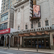 The Samuel J. Friedman Theater remains closed during the holiday season with Coronavirus (Covid-19) outbreak in Manhattan, New York on Tuesday, December 8, 2020. (Alex Menendez via AP)