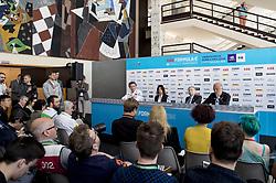 April 13, 2018 - Rome, Italy - Jean Todt (FRA) President of the FIA attending the press conference during the FIA Formula E Championship Day One Rome E-Prix 2018 at Circuto Cittadino dellEUR, Rome, Italy on 13 April 2018. (Credit Image: © Giuseppe Maffia/NurPhoto via ZUMA Press)