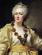 Catherine II, the Great (1729-1796) Empress of Russia from 1796, 1794.  Dmitry Levitzky (1735-1822) Russian-Ukrainian painter. Portrait Female Three-quarter Frontal
