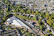 Nederland, Utrecht, Gemeente Utrecht, 30-09-2015; Spoorwegmuseum in Maliebaanstation (Station Maliebaan).<br /> Railway station.<br /> QQQ<br /> luchtfoto (toeslag op standard tarieven);<br /> aerial photo (additional fee required);<br /> copyright foto/photo Siebe Swart