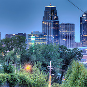 View of downtown Kansas City from near 24th and Troost.