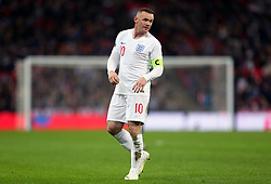 England's Wayne Rooney reacts after an attempted shot on goal