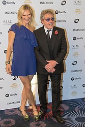 Grosvenor House Hotel, London, November 7th 2016. Luminaries from the music industry gather at the Grosvenor House Hotel for the Music Industry Awards, where this year The Who's Roger Daltrey CBE is honored with the 25th annual MITS award in support of Nordoff Robbins and The BRIT Trust. PICTURED: Jo Whiley and Roger Daltrey