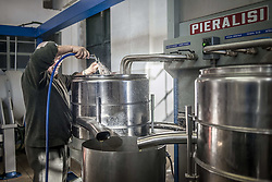 December 31, 2017 - Saranda, Albania - The working process at extra virgin olive oil factory near Saranda, Albania on December 31, 2017. (Credit Image: © Oleksandr Rupeta/NurPhoto via ZUMA Press)