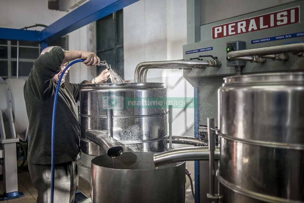 December 31, 2017 - Saranda, Albania - The working process at extra virgin olive oil factory near Saranda, Albania on December 31, 2017. (Credit Image: © Oleksandr Rupeta/NurPhoto via ZUMA Press)