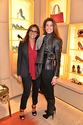 Left to right, ISABELLE CLAVIER and CHRISTINA ESTRADA JUFFALI at a breakfast at Roger Vivier, 188 Sloane Street to view the SS2014 Roger Vivier collections held on 20th March 2014.