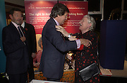 David Blunkett, Melvyn Bragg and Baroness James.  70th anniversary of the RNIB Talking `book service. Arts Club. Dover St. London.  8 November 2005 . ONE TIME USE ONLY - DO NOT ARCHIVE © Copyright Photograph by Dafydd Jones 66 Stockwell Park Rd. London SW9 0DA Tel 020 7733 0108 www.dafjones.com