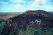 Luahiwa Petroglyphs, Lanai, Hawaii, USA<br />