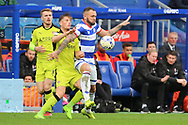 Queens Park Rangers defender Joel Lynch (6) battles for possession with Rotherham United forward Jerry Yates (39) during the EFL Sky Bet Championship match between Queens Park Rangers and Rotherham United at the Loftus Road Stadium, London, England on 18 March 2017. Photo by Matthew Redman.