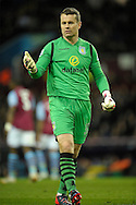 Goalkeeper Shay Given of Aston Villa looks on. The FA cup, 6th round match, Aston Villa v West Bromwich Albion at Villa Park in Birmingham, Midlands on Saturday 7th March 2015<br /> pic by John Patrick Fletcher, Andrew Orchard sports photography.
