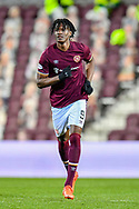 Armand Gnanduillet (#9) of Heart of Midlothian FC during the SPFL Championship match between Heart of Midlothian FC and Alloa Athletic FC at Tynecastle Park, Edinburgh, Scotland on 9 April 2021.