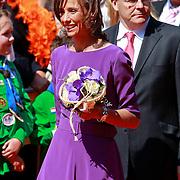 NLD/Weert/20110430 - Koninginnedag 2011 in Weert, Marilene van den Broek en Friso