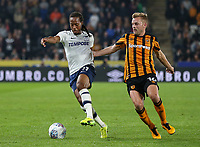 Preston North End's Daniel Johnson competing with Hull City's Sebastian Larsson<br /> <br /> Photographer Andrew Kearns/CameraSport<br /> <br /> The EFL Sky Bet Championship - Hull City v Preston North End - Tuesday 26th September 2017 - KC Stadium - Hull<br /> <br /> World Copyright © 2017 CameraSport. All rights reserved. 43 Linden Ave. Countesthorpe. Leicester. England. LE8 5PG - Tel: +44 (0) 116 277 4147 - admin@camerasport.com - www.camerasport.com