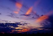Sunset Rays over Amazon rain forest - Peru