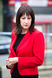 © Licensed to London News Pictures. 17/06/2016. Birstall UK. MP Rachel Reeves at the scene in Birstall market place this morning where MP Jo Cox was murdered yesterday. Photo credit: Andrew McCaren/LNP