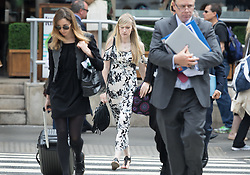 © Licensed to London News Pictures. 25/07/2017. London, UK. CONNIE YATES (C) arrives at The The Royal Courts of Justice in London . The parents of terminally ill Charlie Gard have returned to court in an attempt to take their terminally ill son home to die rather than ending his life in hospital. Yesterday a court ruled that Charlie, who suffers from a rare genetic condition known as mitochondrial DNA depletion syndrome, should not be taken to US for further treatment. Photo credit: Peter Macdiarmid/LNP