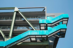 Modern architecture at Medienhafen or Media Harbour property development in Dusseldorf Germany