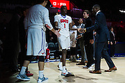 DALLAS, TX - DECEMBER 17: Shake Milton #1 of the SMU Mustangs is introduced before tipoff against the Hampton Pirates on December 17, 2015 at Moody Coliseum in Dallas, Texas.  (Photo by Cooper Neill/Getty Images) *** Local Caption *** Shake Milton