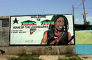 Bob Marley poster in Trenchtown