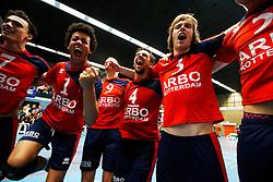 20150423 NED: Eredivisie ARBO Rotterdam Fusion - Zaanstad, Rotterdam <br />Vreugde bij ARBO Rotterdam Fusion<br />©2015-FotoHoogendoorn.nl / Pim Waslander