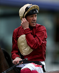 Muchly ridden by jockey Frankie Dettori after winning the Naas Racecourse Royal Ascot Trials Day British EBF Fillies' Conditions Stakes during Royal Ascot Trials Day at Ascot Racecourse.