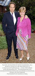 The EARL & COUNTESS OF MARCH & KINRARA, at a dinner in London on 19th May 2003.PJS 15