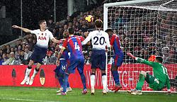 Tottenham Hotspur's Juan Foyth (left) scores his side's first goal of the game during the Premier League match at Selhurst Park, London.