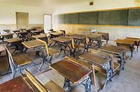 Schoolroom interior, Bannack State Park Montana