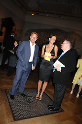 Left to right, DAVID ROSS, SAFFRON ALDRIDGE and LORD ARCHER at the Royal Academy of Arts Summer Exhibition Party at the Royal Academy, Piccadilly, London on 6th June 2007.<br /><br />NON EXCLUSIVE - WORLD RIGHTS