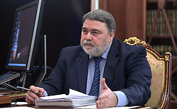 April 26, 2017 - Moscow, Russia - April 26, 2017. - Russia, Moscow. - Federal Antimonopoly Service Head Igor Artemiev at a meeting with President Vladimir Putin. (Credit Image: © Russian Look via ZUMA Wire)