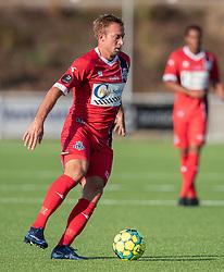 Jonas Henriksen (FC Helsingør) under træningskampen mellem FC Helsingør og Næstved Boldklub den 19. august 2020 på Helsingør Stadion (Foto: Claus Birch).
